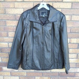 East 5th Brown Leather Jacket Like new Size XL